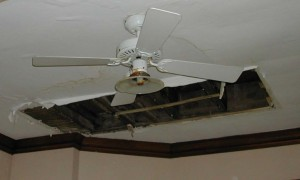 Ceiling Damage from Water Leak-Copyright Harmoni Designs LLC