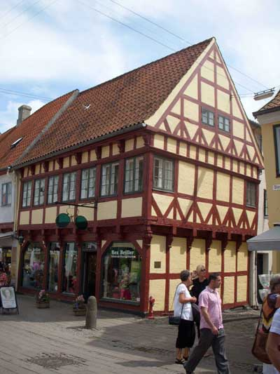 Half-Timbered Building in Denmark