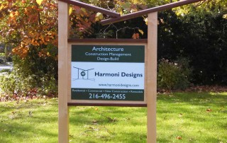 new harmoni designs yard sign