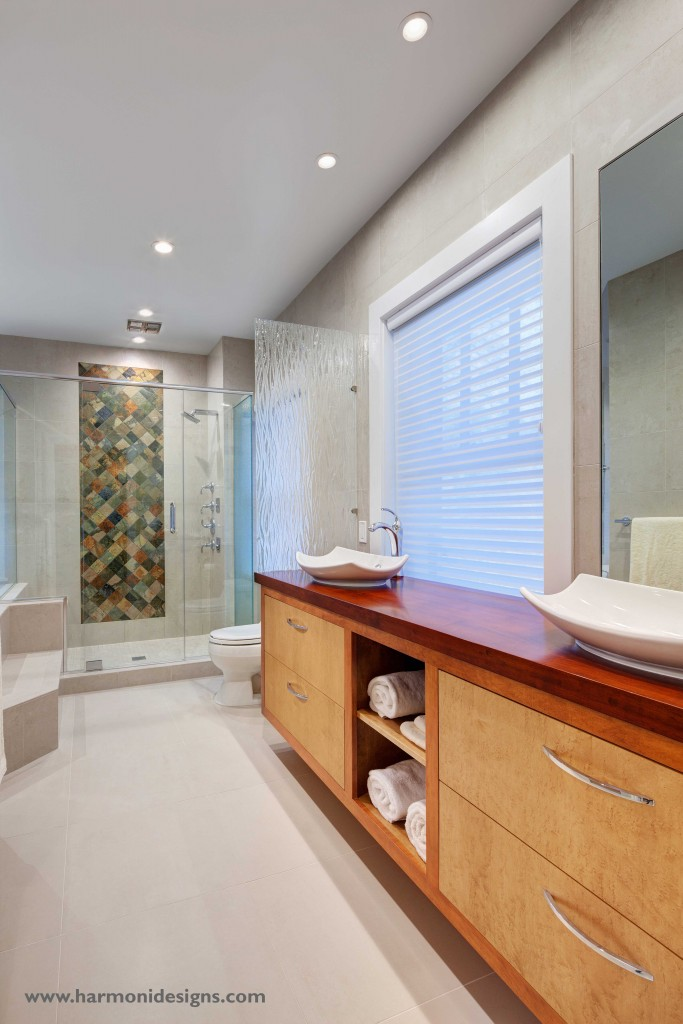 master bathroom with Kohler fixtures throughout