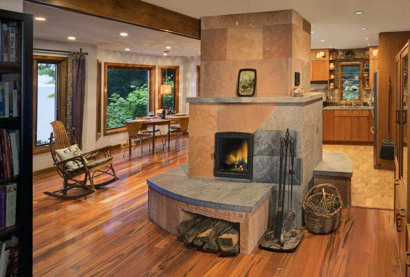 Custom designed masonry heater