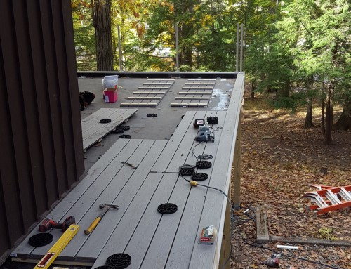 Floating Terrace Deck in the Making